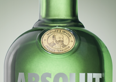 product detail bottle of vodka